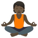 Person in Lotus Position: Dark Skin Tone on JoyPixels 5.5