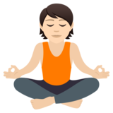 Person in Lotus Position: Light Skin Tone on JoyPixels 5.5