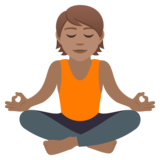 Person in Lotus Position: Medium Skin Tone on JoyPixels 5.5