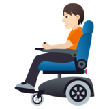 Person in Motorized Wheelchair: Light Skin Tone on JoyPixels 5.5