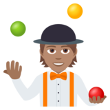 Person Juggling: Medium Skin Tone on JoyPixels 5.5