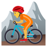 Person Mountain Biking on JoyPixels 5.5