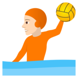 Person Playing Water Polo: Light Skin Tone on JoyPixels 5.5