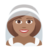 Person With Veil: Medium Skin Tone on JoyPixels 5.5