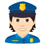 Police Officer: Light Skin Tone on JoyPixels 5.5