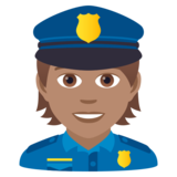 Police Officer: Medium Skin Tone on JoyPixels 5.5