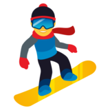 Snowboarder on JoyPixels 5.5