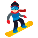 Snowboarder: Light Skin Tone on JoyPixels 5.5