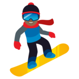 Snowboarder: Medium-Dark Skin Tone on JoyPixels 5.5
