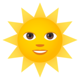 Sun with Face on JoyPixels 5.5