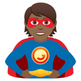 Superhero: Medium-Dark Skin Tone on JoyPixels 5.5
