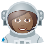 Woman Astronaut: Medium-Dark Skin Tone on JoyPixels 5.5