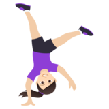 Woman Cartwheeling: Light Skin Tone on JoyPixels 5.5