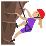Woman Climbing: Medium-Light Skin Tone on JoyPixels 5.5