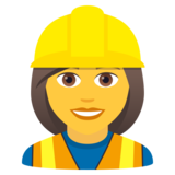 Woman Construction Worker on JoyPixels 5.5