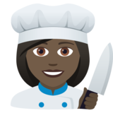 Woman Cook: Dark Skin Tone on JoyPixels 5.5