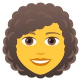 Woman: Curly Hair on JoyPixels 5.5