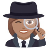 Woman Detective: Medium Skin Tone on JoyPixels 5.5