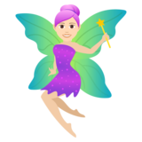 Woman Fairy: Light Skin Tone on JoyPixels 5.5