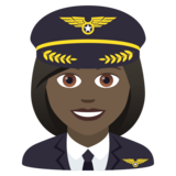 Woman Pilot: Dark Skin Tone on JoyPixels 5.5