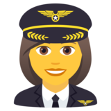 Woman Pilot on JoyPixels 5.5