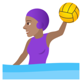 Woman Playing Water Polo: Medium Skin Tone on JoyPixels 5.5