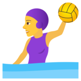 Woman Playing Water Polo on JoyPixels 5.5