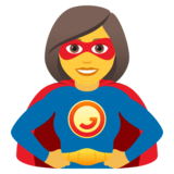 Woman Superhero on JoyPixels 5.5
