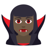 Woman Vampire: Dark Skin Tone on JoyPixels 5.5