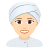 Woman Wearing Turban: Light Skin Tone on JoyPixels 5.5