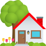 House with Garden on JoyPixels 6.0