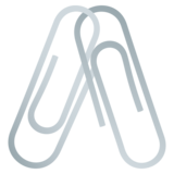 Linked Paperclips on JoyPixels 6.0