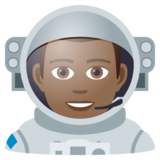 Man Astronaut: Medium-Dark Skin Tone on JoyPixels 6.0