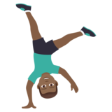 Man Cartwheeling: Medium-Dark Skin Tone on JoyPixels 6.0