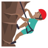 Man Climbing: Medium Skin Tone on JoyPixels 6.0