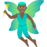 Man Fairy: Medium-Dark Skin Tone on JoyPixels 6.0