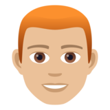 Man: Medium-Light Skin Tone, Red Hair on JoyPixels 6.0