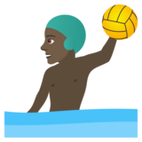 Man Playing Water Polo: Dark Skin Tone on JoyPixels 6.0