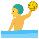 Man Playing Water Polo on JoyPixels 6.0