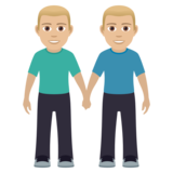 Men Holding Hands: Medium-Light Skin Tone on JoyPixels 6.0