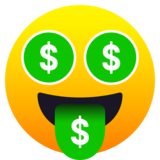 Money-Mouth Face on JoyPixels 6.0