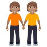 People Holding Hands: Medium Skin Tone on JoyPixels 6.0