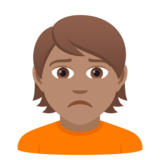 Person Frowning: Medium Skin Tone on JoyPixels 6.0