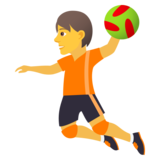 Person Playing Handball on JoyPixels 6.0