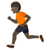 Person Running: Dark Skin Tone on JoyPixels 6.0