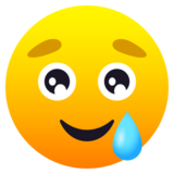 Smiling Face with Tear on JoyPixels 6.0