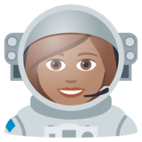 Woman Astronaut: Medium Skin Tone on JoyPixels 6.0