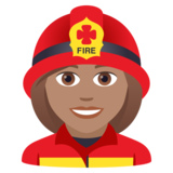Woman Firefighter: Medium Skin Tone on JoyPixels 6.0
