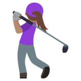 Woman Golfing: Medium Skin Tone on JoyPixels 6.0