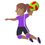 Woman Playing Handball: Medium Skin Tone on JoyPixels 6.0